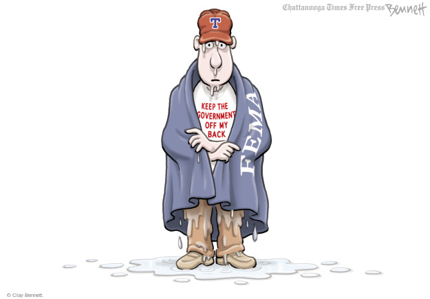 Cartoonist Clay Bennett  Clay Bennett's Editorial Cartoons 2017-08-30 Texas