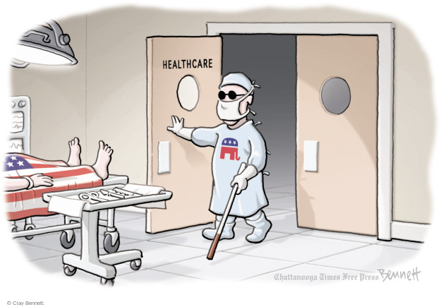 Clay Bennett  Clay Bennett's Editorial Cartoons 2017-09-21 Trumpcare