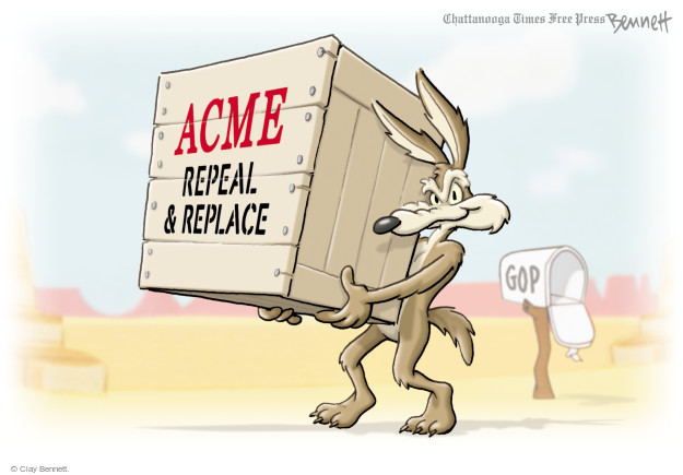 Clay Bennett  Clay Bennett's Editorial Cartoons 2017-09-25 Trumpcare