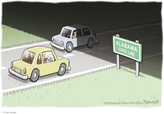 Cartoonist Clay Bennett  Clay Bennett's Editorial Cartoons 2017-09-27 state election