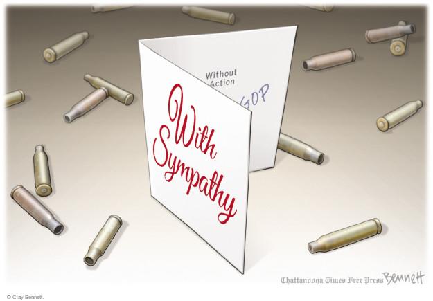 Cartoonist Clay Bennett  Clay Bennett's Editorial Cartoons 2017-10-09 gun violence