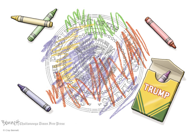 Clay Bennett  Clay Bennett's Editorial Cartoons 2017-10-17 Donald