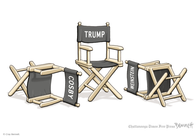 Cartoonist Clay Bennett  Clay Bennett's Editorial Cartoons 2017-10-19 charge
