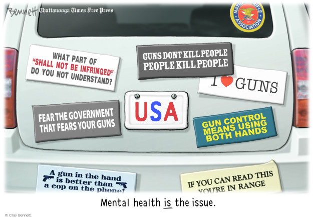 Cartoonist Clay Bennett  Clay Bennett's Editorial Cartoons 2017-11-07 gun control