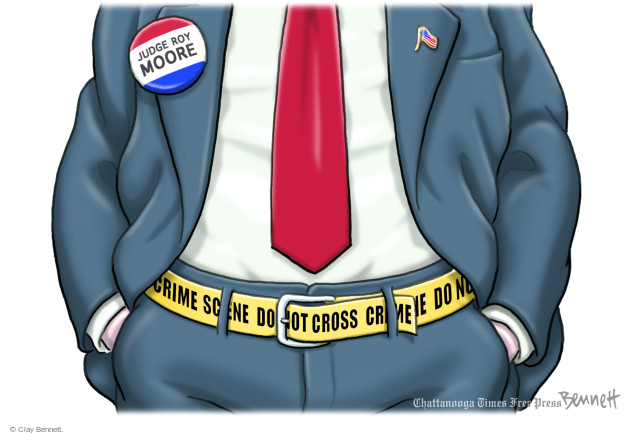 Cartoonist Clay Bennett  Clay Bennett's Editorial Cartoons 2017-11-14 state politician