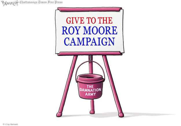 Cartoonist Clay Bennett  Clay Bennett's Editorial Cartoons 2017-11-27 state politician