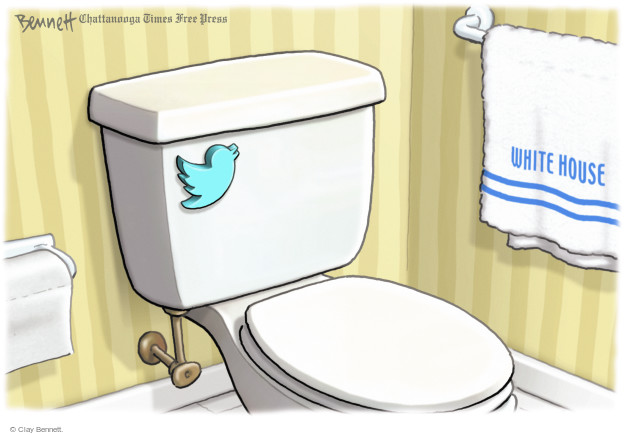 Clay Bennett  Clay Bennett's Editorial Cartoons 2017-12-01 social media politics