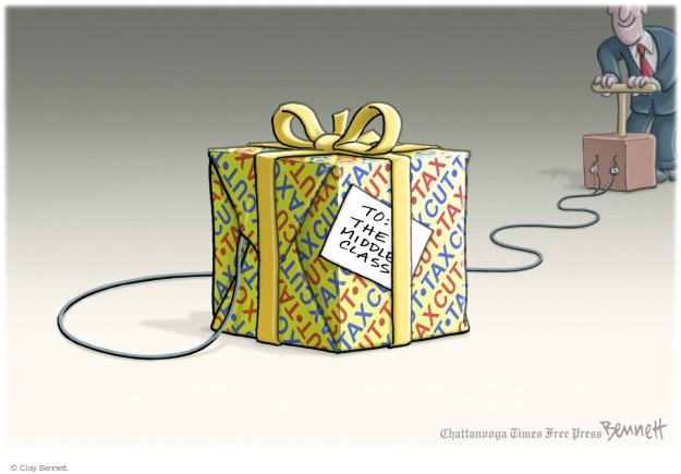 Clay Bennett  Clay Bennett's Editorial Cartoons 2017-12-05 tax