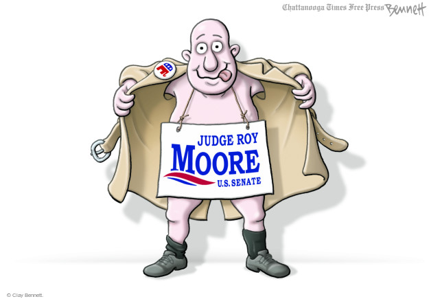 Cartoonist Clay Bennett  Clay Bennett's Editorial Cartoons 2017-12-12 state politician