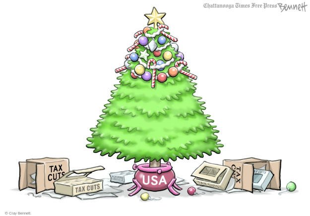 Cartoonist Clay Bennett  Clay Bennett's Editorial Cartoons 2017-12-15 tax reform