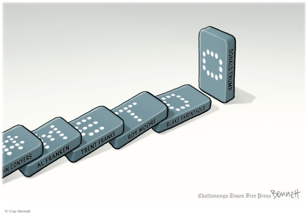 Cartoonist Clay Bennett  Clay Bennett's Editorial Cartoons 2017-12-29 charge