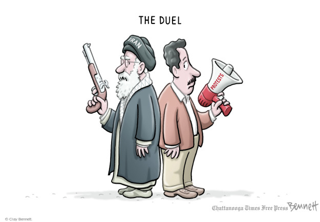 Cartoonist Clay Bennett  Clay Bennett's Editorial Cartoons 2018-01-03 Iran