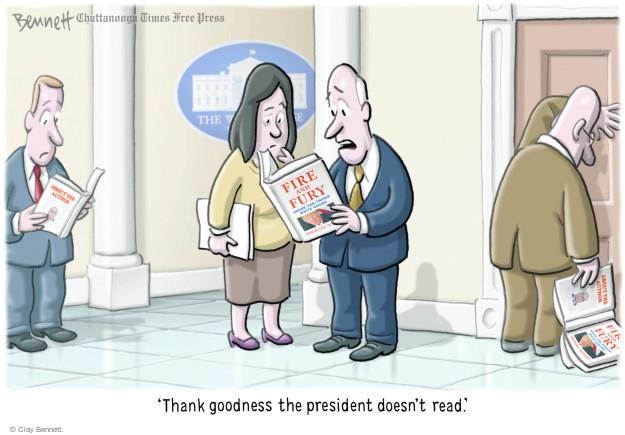 Cartoonist Clay Bennett  Clay Bennett's Editorial Cartoons 2018-01-08 editorial