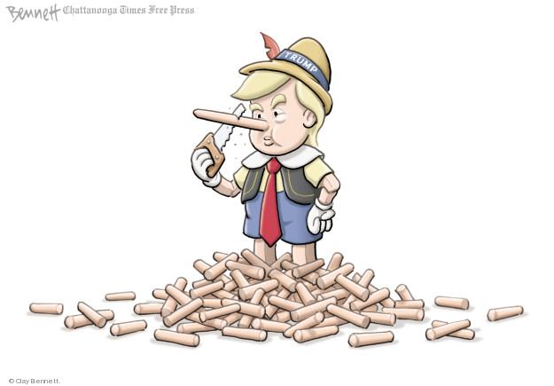 Cartoonist Clay Bennett  Clay Bennett's Editorial Cartoons 2018-01-17 lie