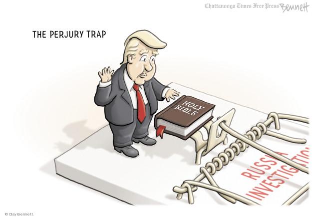 Cartoonist Clay Bennett  Clay Bennett's Editorial Cartoons 2018-01-30 Russia Investigation