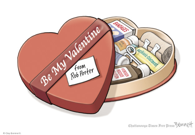 Cartoonist Clay Bennett  Clay Bennett's Editorial Cartoons 2018-02-14 Valentine's Day