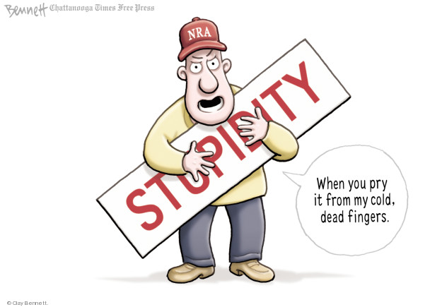 Cartoonist Clay Bennett  Clay Bennett's Editorial Cartoons 2018-02-16 weapon