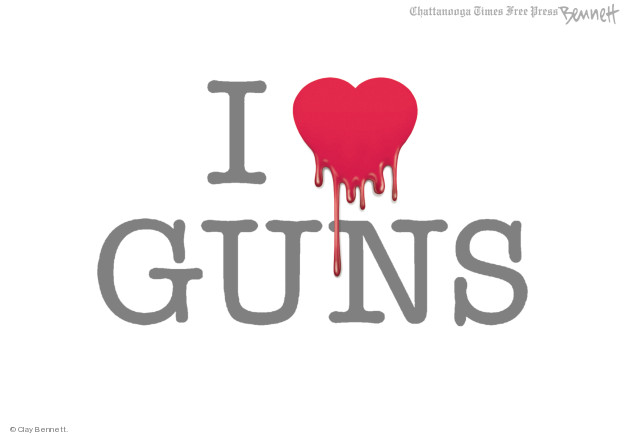 Cartoonist Clay Bennett  Clay Bennett's Editorial Cartoons 2018-02-20 gun control