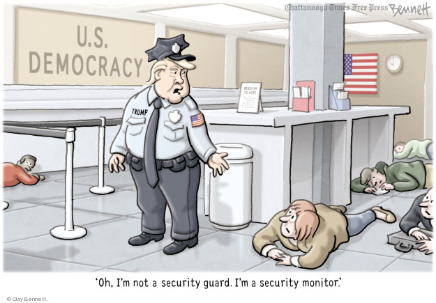 Cartoonist Clay Bennett  Clay Bennett's Editorial Cartoons 2018-02-28 democracy