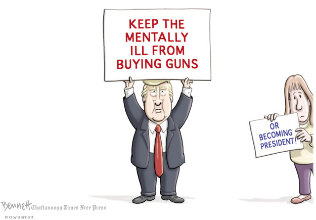 Cartoonist Clay Bennett  Clay Bennett's Editorial Cartoons 2018-03-01 weapon