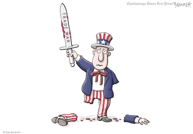Clay Bennett  Clay Bennett's Editorial Cartoons 2018-03-06 economy