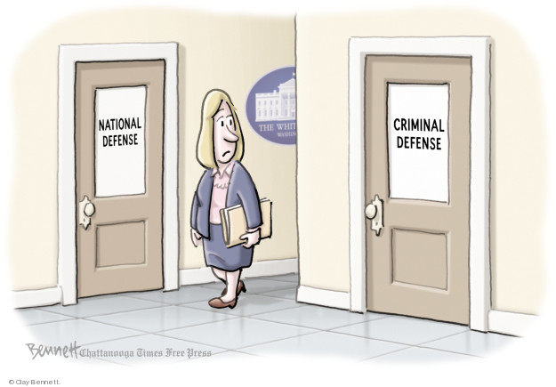 Cartoonist Clay Bennett  Clay Bennett's Editorial Cartoons 2018-04-19 lawyer
