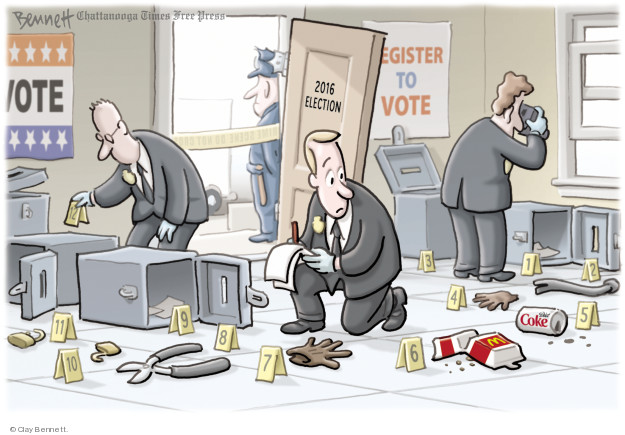 Cartoonist Clay Bennett  Clay Bennett's Editorial Cartoons 2018-04-23 editorial