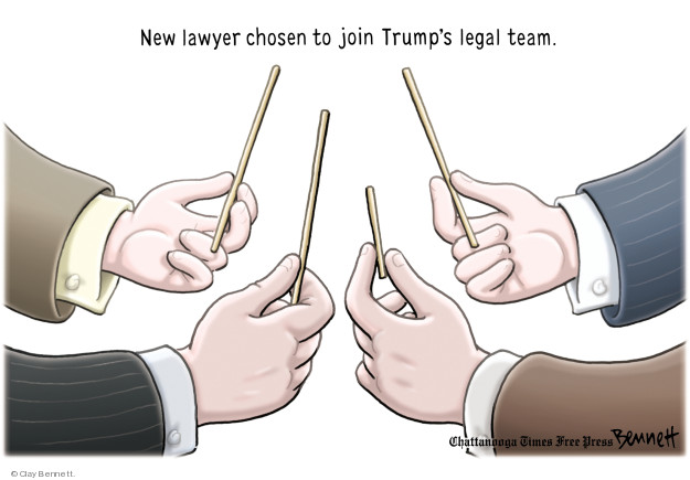 Cartoonist Clay Bennett  Clay Bennett's Editorial Cartoons 2018-05-03 Donald Trump Lawyers