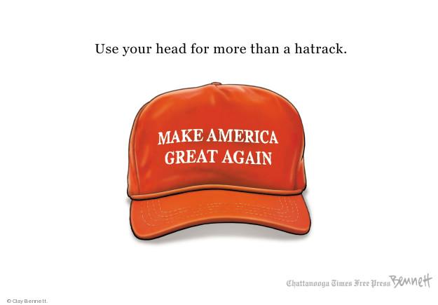 Cartoonist Clay Bennett  Clay Bennett's Editorial Cartoons 2018-05-07 head