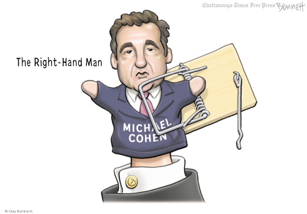 Cartoonist Clay Bennett  Clay Bennett's Editorial Cartoons 2018-05-10 lawyer