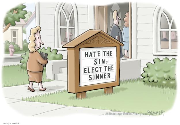 Cartoonist Clay Bennett  Clay Bennett's Editorial Cartoons 2018-05-17 religious