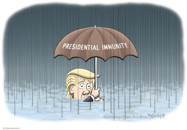 Cartoonist Clay Bennett  Clay Bennett's Editorial Cartoons 2018-05-18 immunity