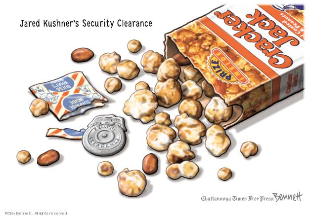 Clay Bennett  Clay Bennett's Editorial Cartoons 2018-05-24 Jared Kushner