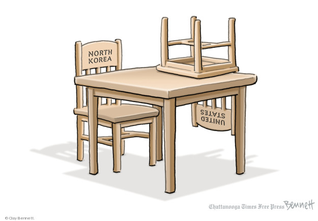 Cartoonist Clay Bennett  Clay Bennett's Editorial Cartoons 2018-05-25 weapon