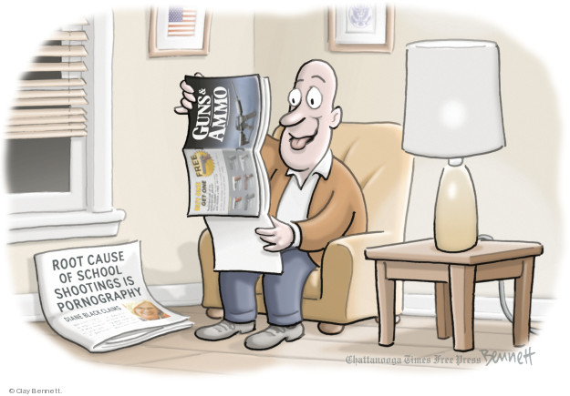Cartoonist Clay Bennett  Clay Bennett's Editorial Cartoons 2018-05-31 weapon