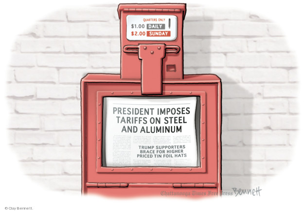 Clay Bennett  Clay Bennett's Editorial Cartoons 2018-06-01 economy