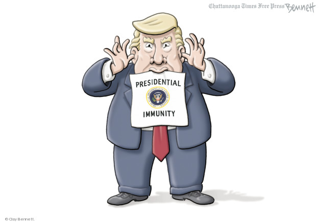 Cartoonist Clay Bennett  Clay Bennett's Editorial Cartoons 2018-06-05 immunity