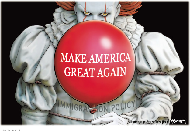 Cartoonist Clay Bennett  Clay Bennett's Editorial Cartoons 2018-06-15 separation