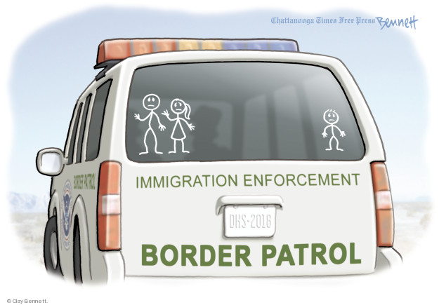 Cartoonist Clay Bennett  Clay Bennett's Editorial Cartoons 2018-06-19 separation