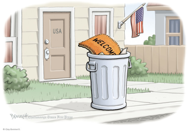 Cartoonist Clay Bennett  Clay Bennett's Editorial Cartoons 2018-06-21 separation