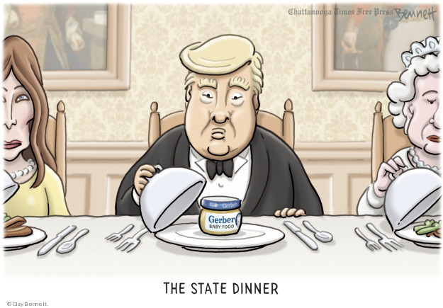 Cartoonist Clay Bennett  Clay Bennett's Editorial Cartoons 2018-07-13 state politician