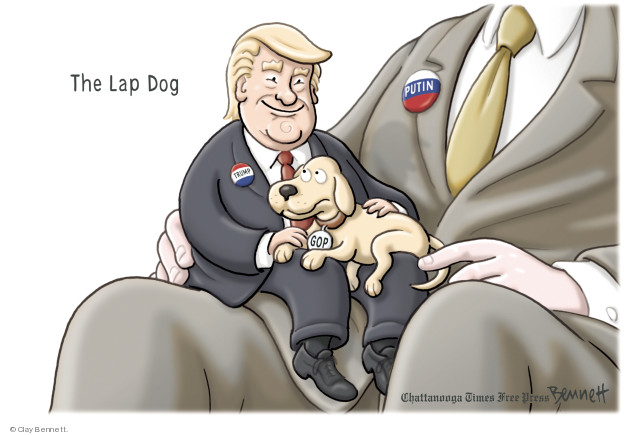 The Lap Dog. GOP. Putin.