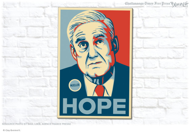 Cartoonist Clay Bennett  Clay Bennett's Editorial Cartoons 2018-07-21 Russia Collusion
