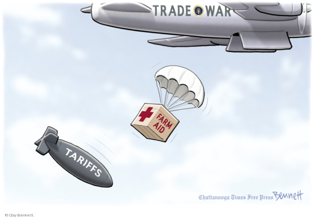 Clay Bennett  Clay Bennett's Editorial Cartoons 2018-07-26 Donald Trump farmer