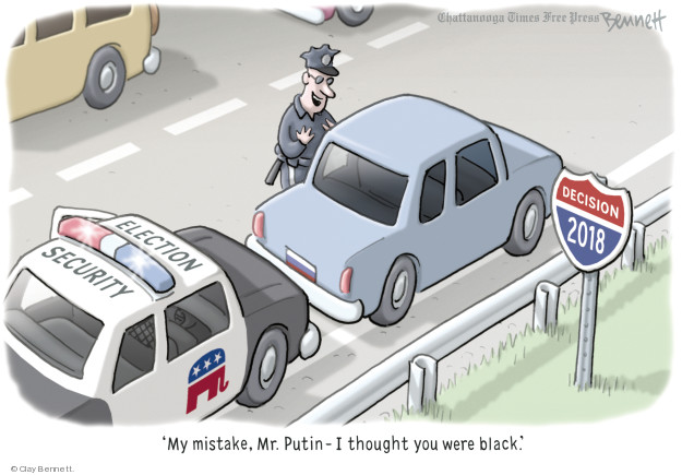 Clay Bennett  Clay Bennett's Editorial Cartoons 2018-07-30 voting rights