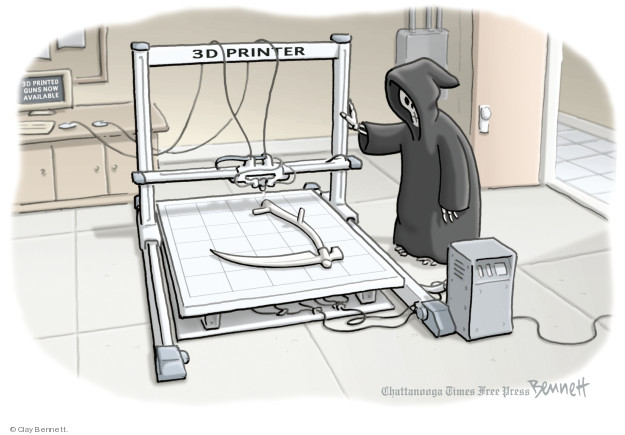 Cartoonist Clay Bennett  Clay Bennett's Editorial Cartoons 2018-08-01 weapon