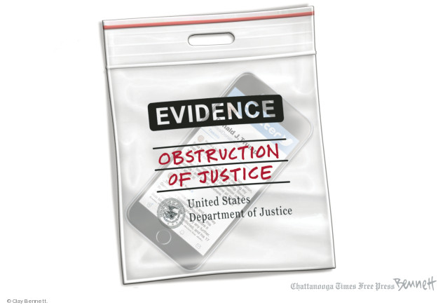 Evidence. Obstruction of justice. United States Department of Justice.