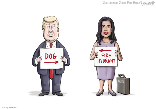 Cartoonist Clay Bennett  Clay Bennett's Editorial Cartoons 2018-08-17 tell-all book