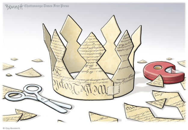 Cartoonist Clay Bennett  Clay Bennett's Editorial Cartoons 2018-08-21 democracy