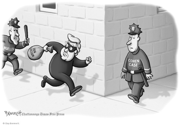 Cartoonist Clay Bennett  Clay Bennett's Editorial Cartoons 2018-08-26 Robert Mueller